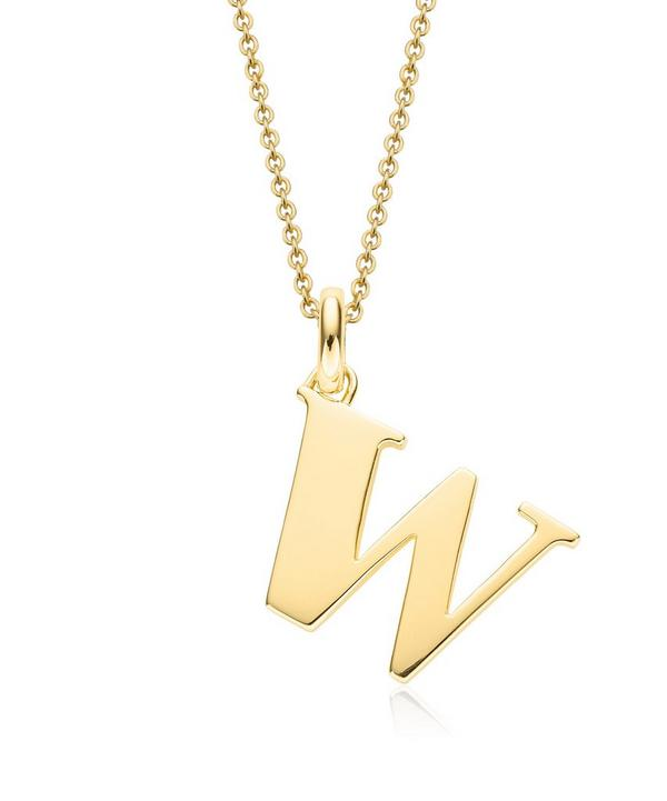 Gold-Plated Alphabet Pendant W
