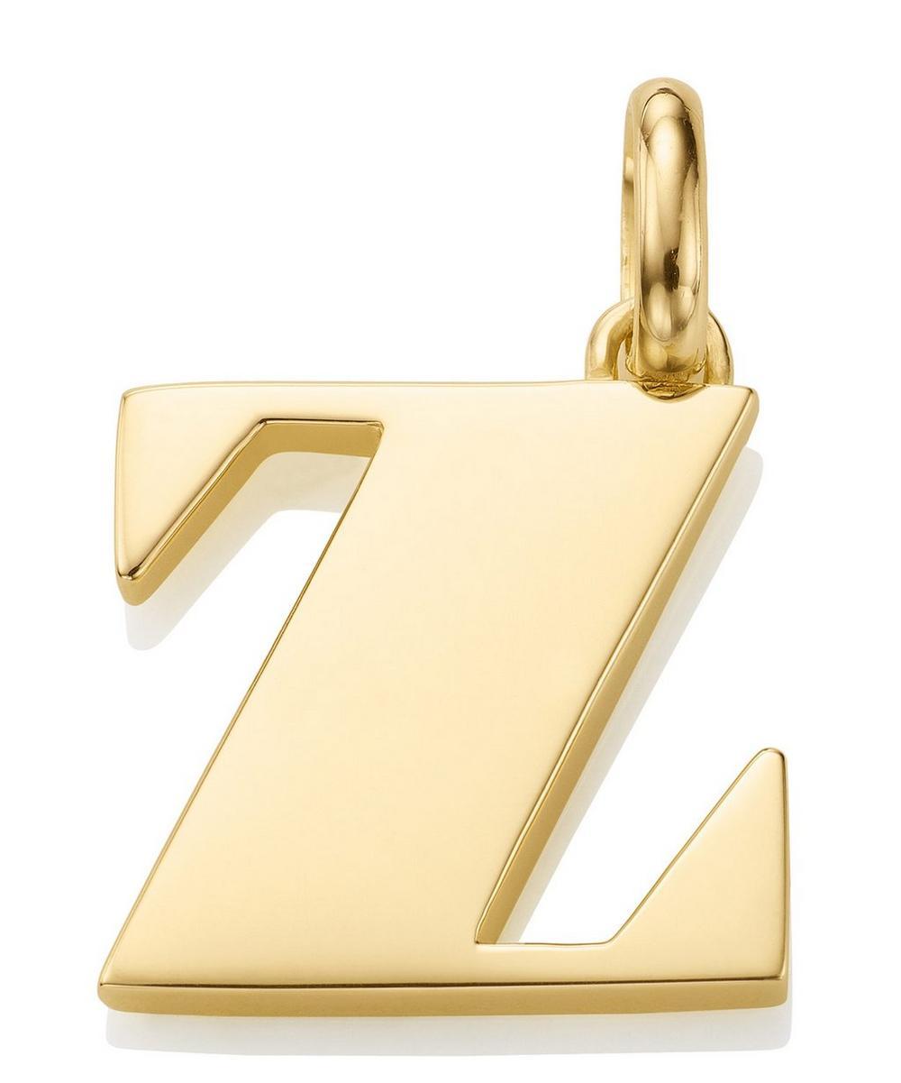 Gold Vermeil Alphabet Pendant A-Z