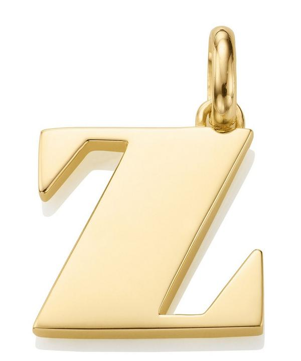 Gold-Plated Alphabet Pendant Z