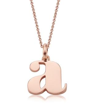 Rose Gold-Plated Alphabet Pendant A-Z