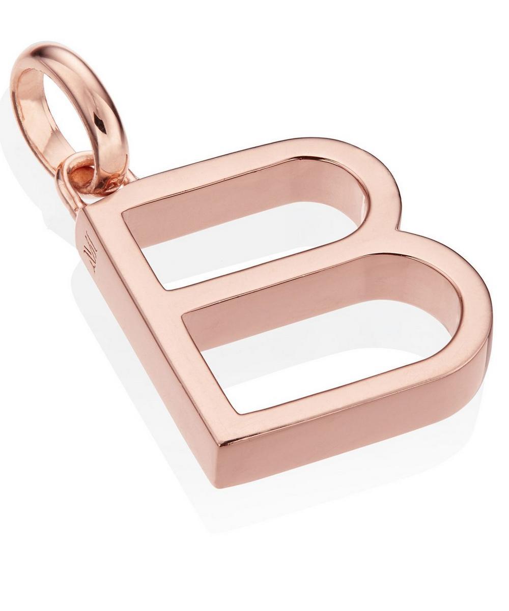 Rose Gold-Plated Alphabet Pendant B