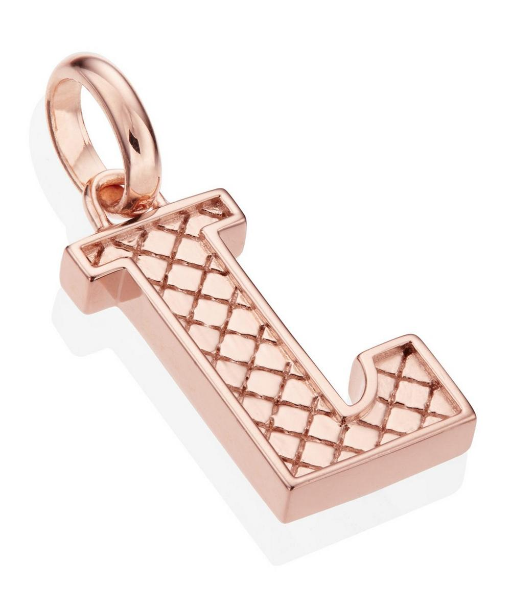 Rose Gold-Plated Alphabet Pendant L