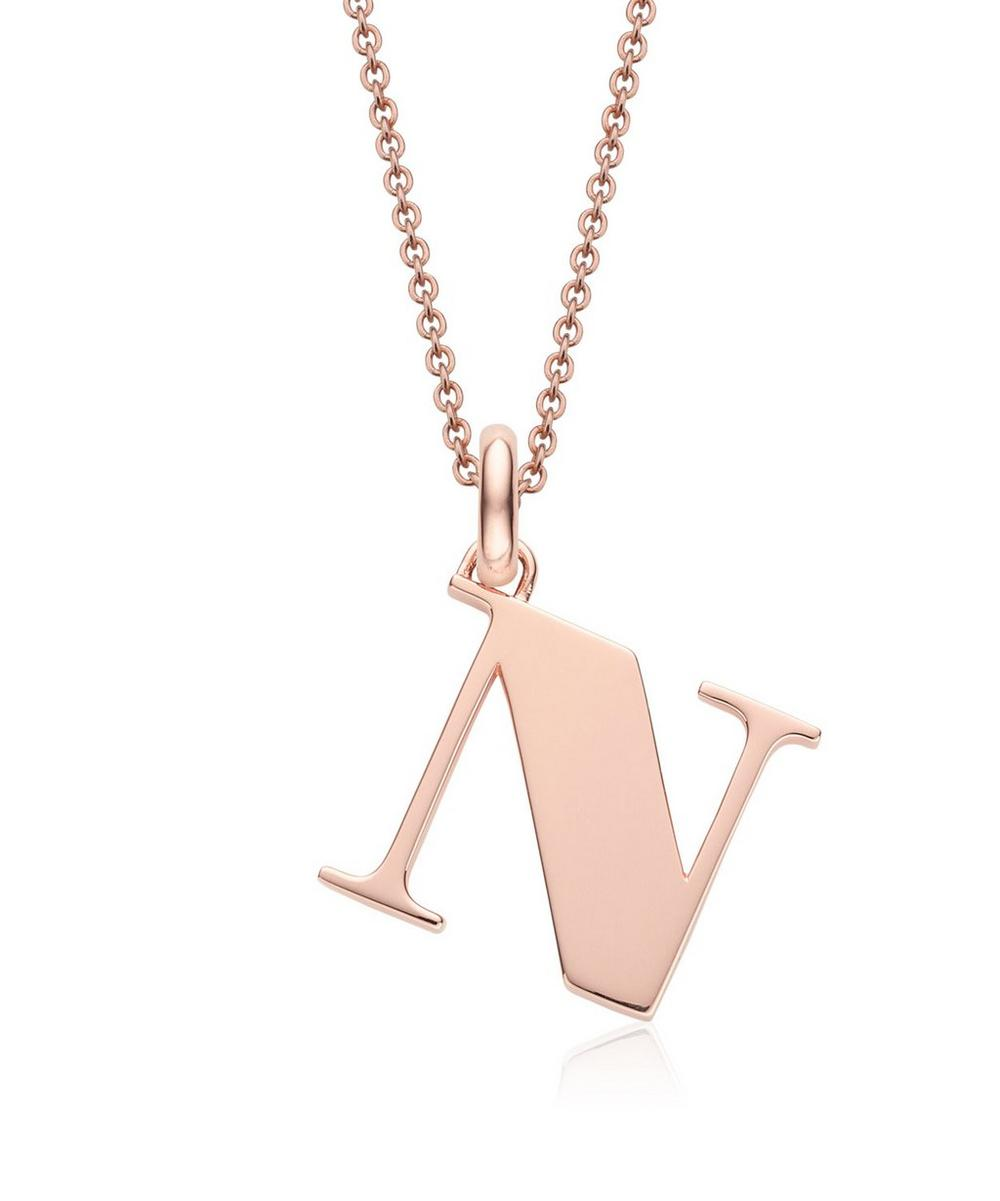 Rose Gold-Plated Alphabet Pendant N