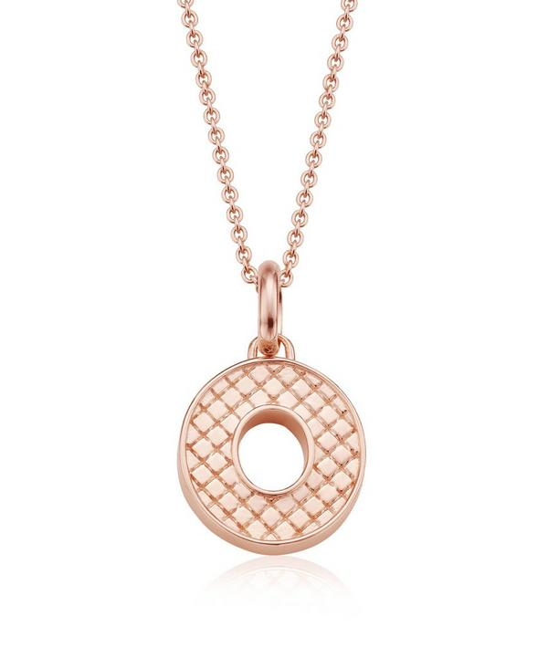 Rose Gold-Plated Alphabet Pendant O