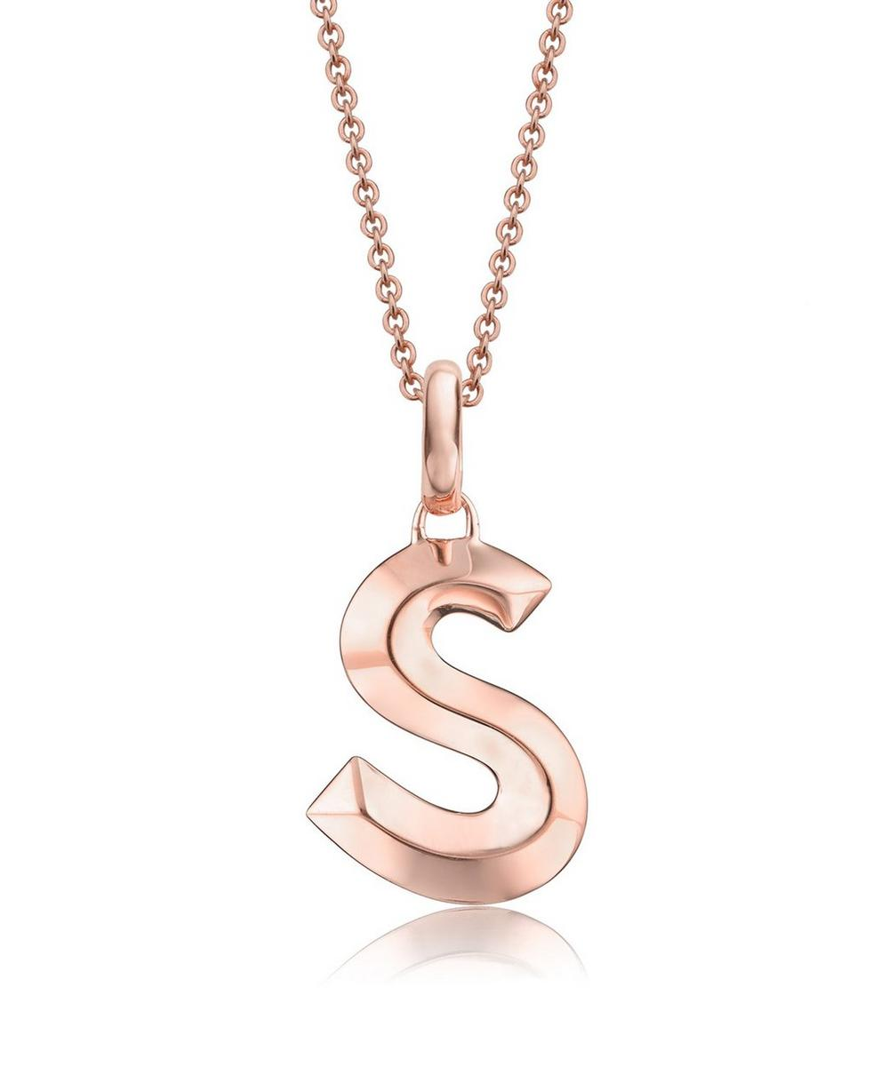 Rose Gold-Plated Alphabet Pendant S