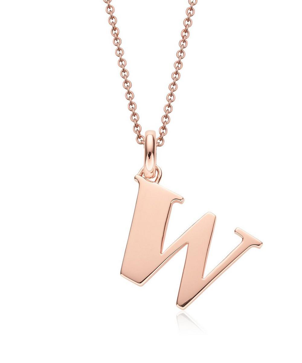 Rose Gold-Plated Alphabet Pendant W