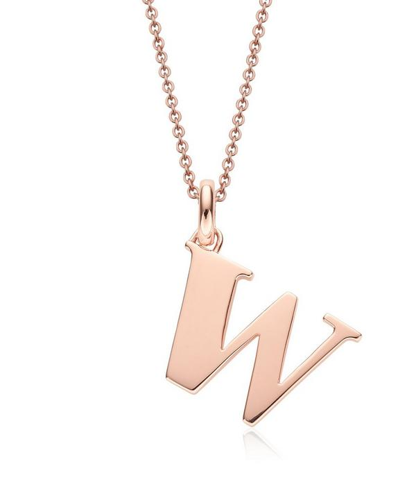 Rose Gold-Plated Alphabet Pendant W