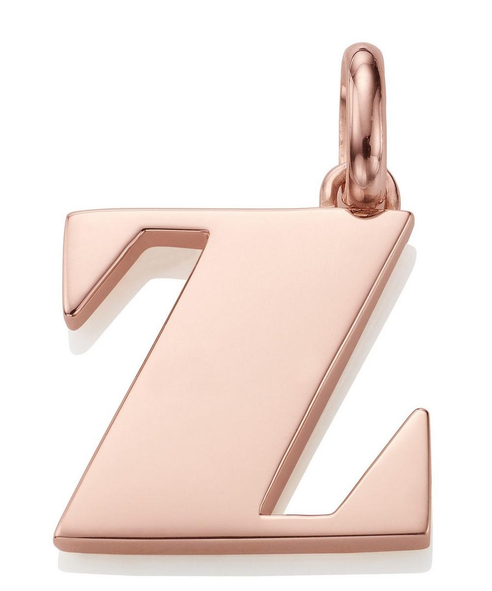 Rose Gold-Plated Alphabet Pendant Z