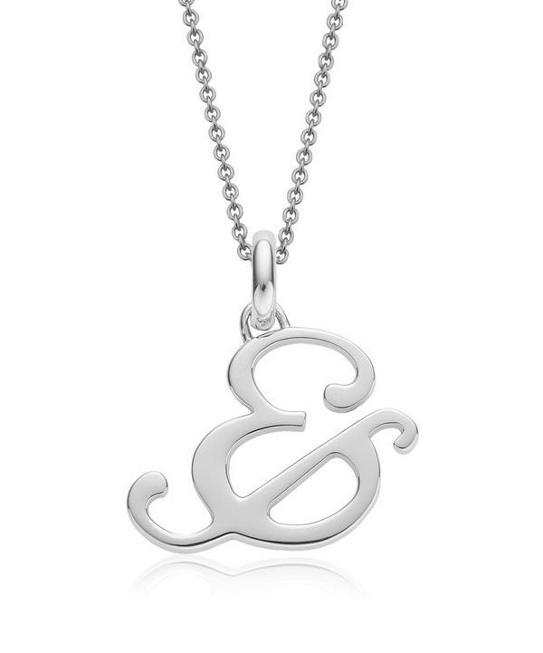 Silver Alphabet Pendant &