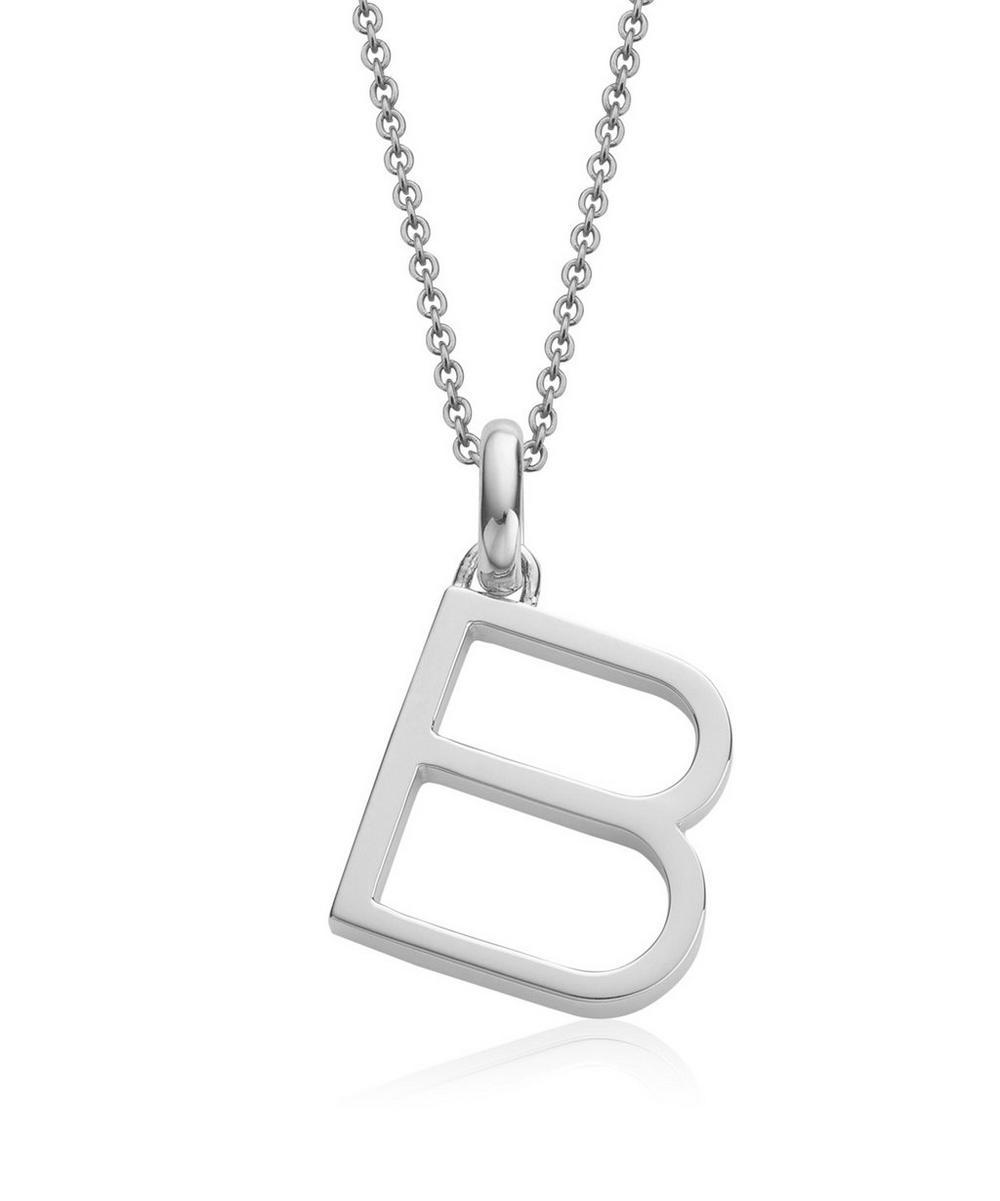 Silver Alphabet Pendant B
