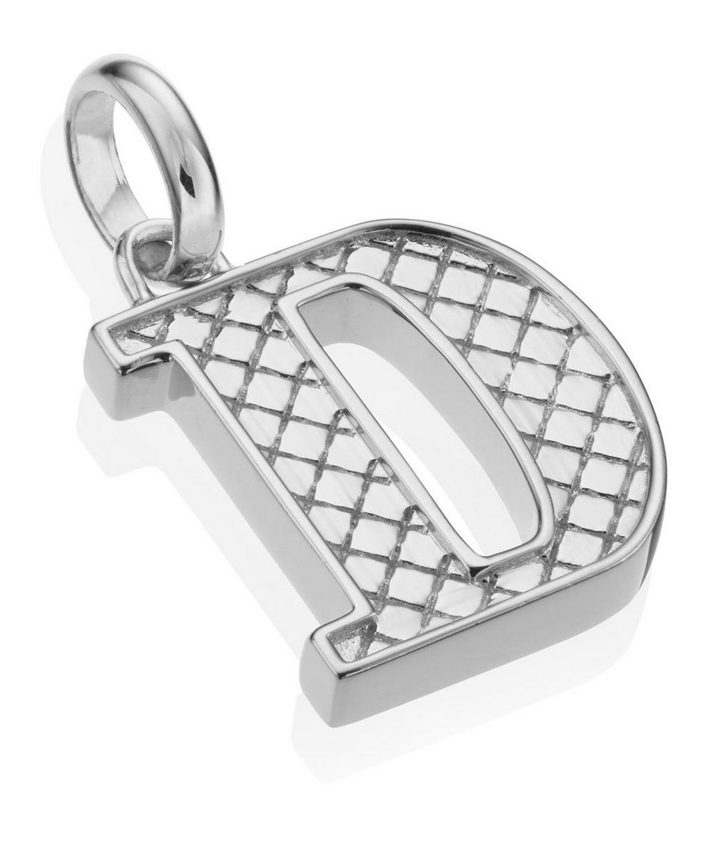 Silver Alphabet Pendant D