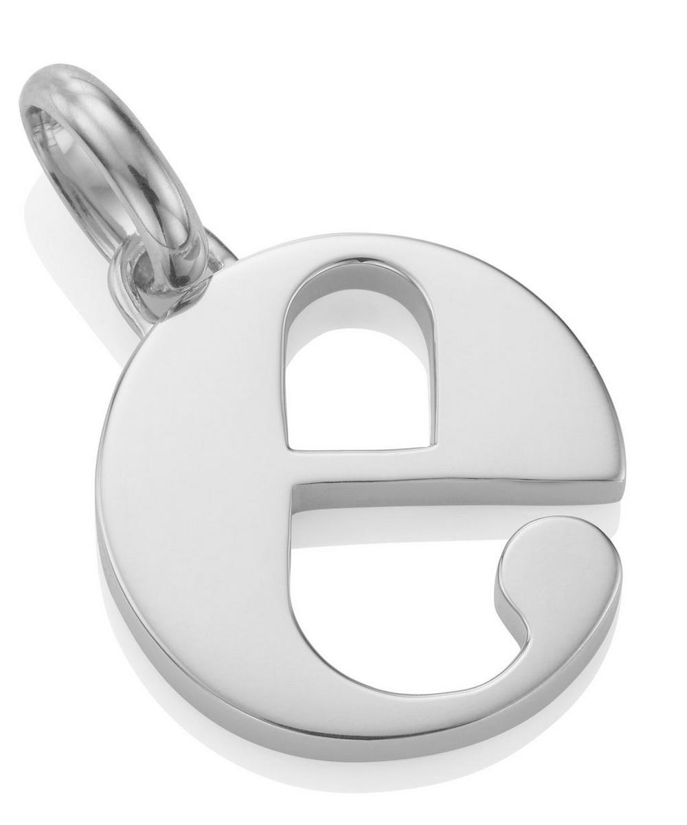 Silver Alphabet Pendant E