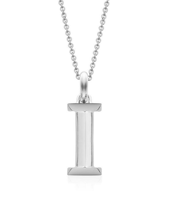 Silver Alphabet Pendant I
