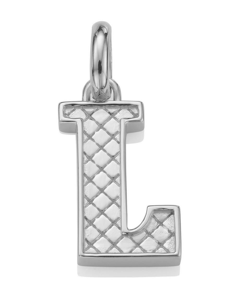 Silver Alphabet Pendant L