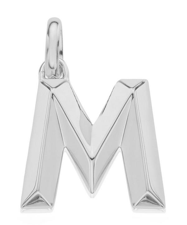 Silver Alphabet Pendant M