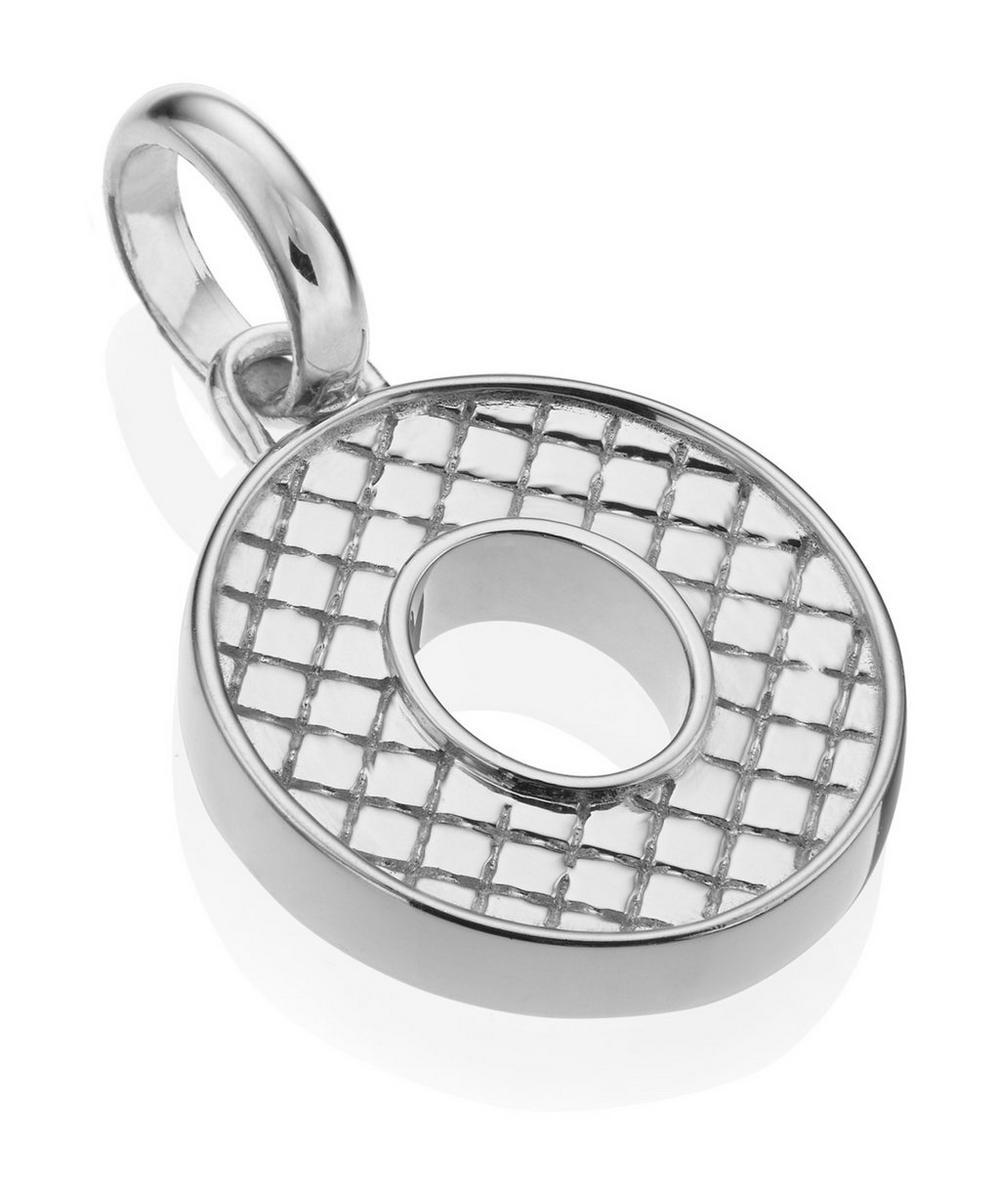 Silver Alphabet Pendant O