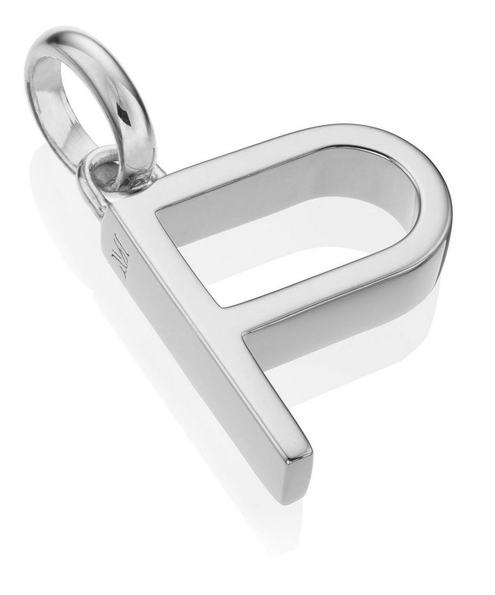 Silver Alphabet Pendant P