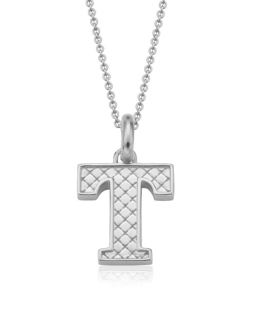 Silver Alphabet Pendant T