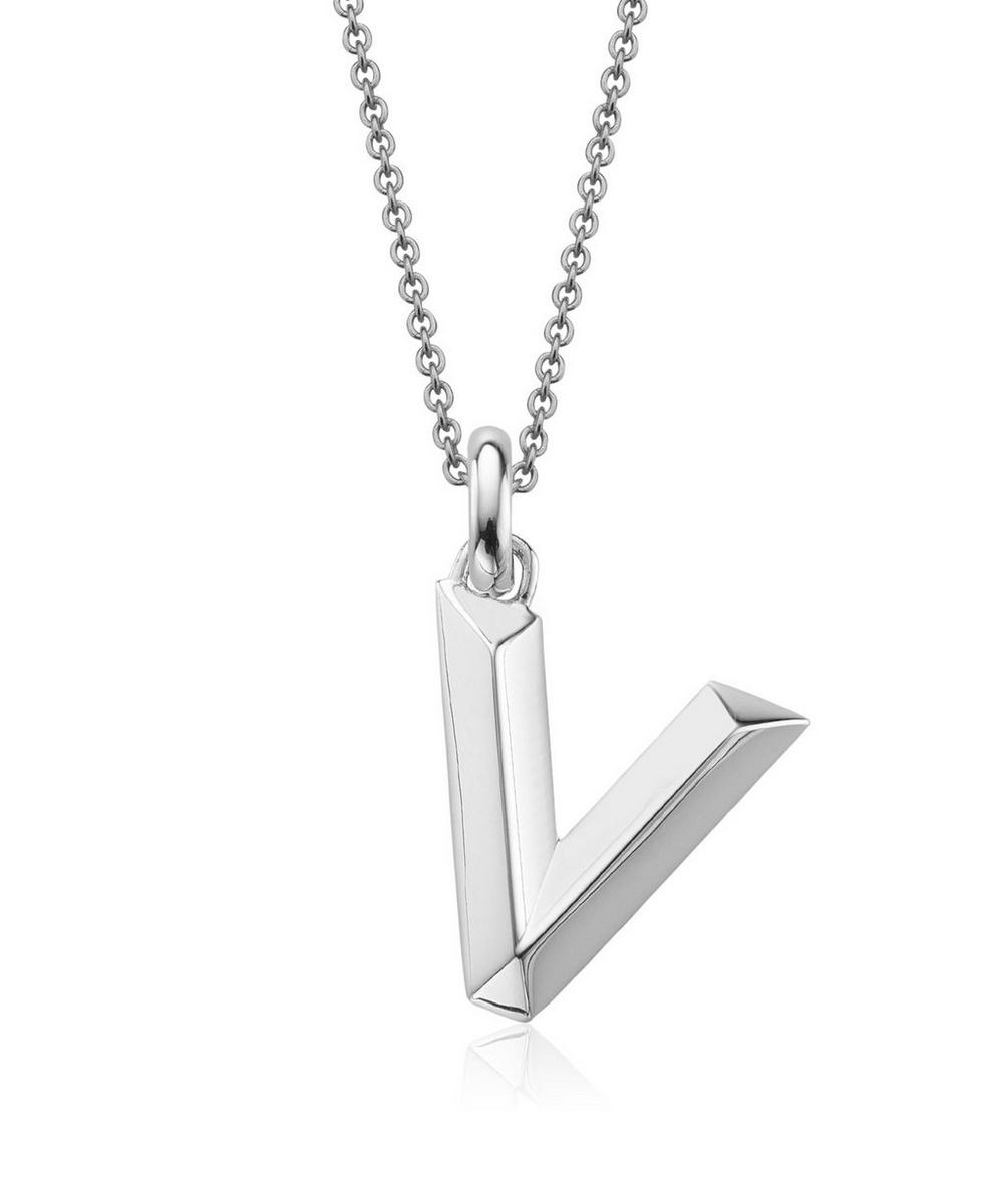 Silver Alphabet Pendant V