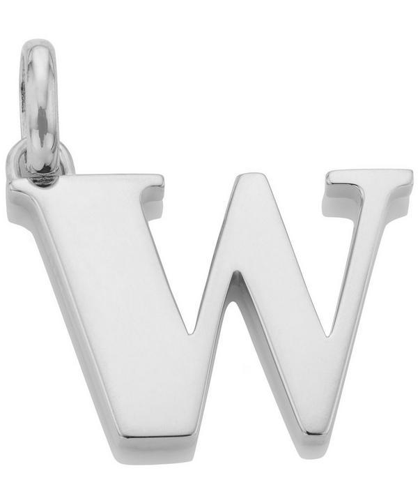 Silver Alphabet Pendant W