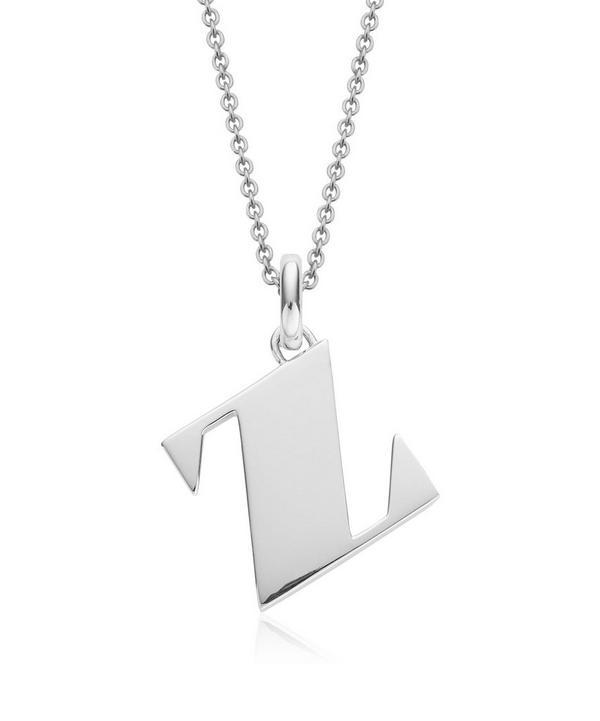 Silver Alphabet Pendant Z