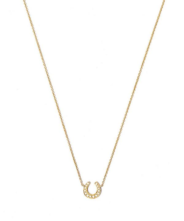 Gold Love Diamonds Horseshoe Necklace