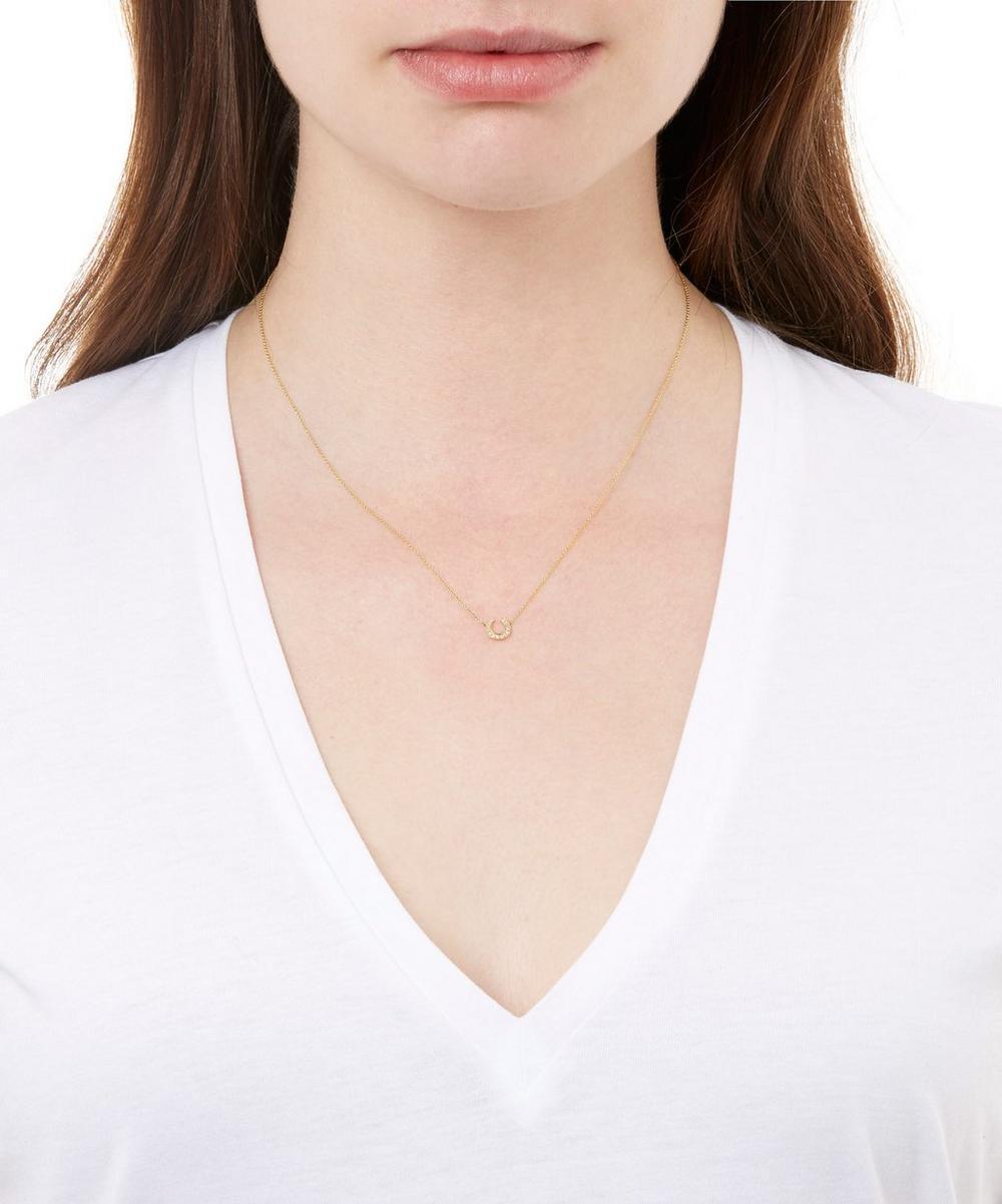 Gold Love Diamonds Horseshoe Necklace