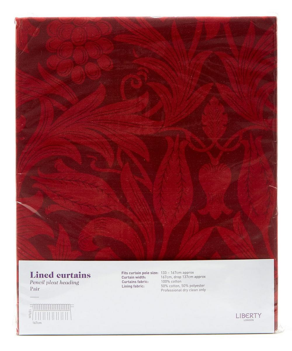 Merton Sunflower Claret Ready Made Curtain Set 167cm x 137cm