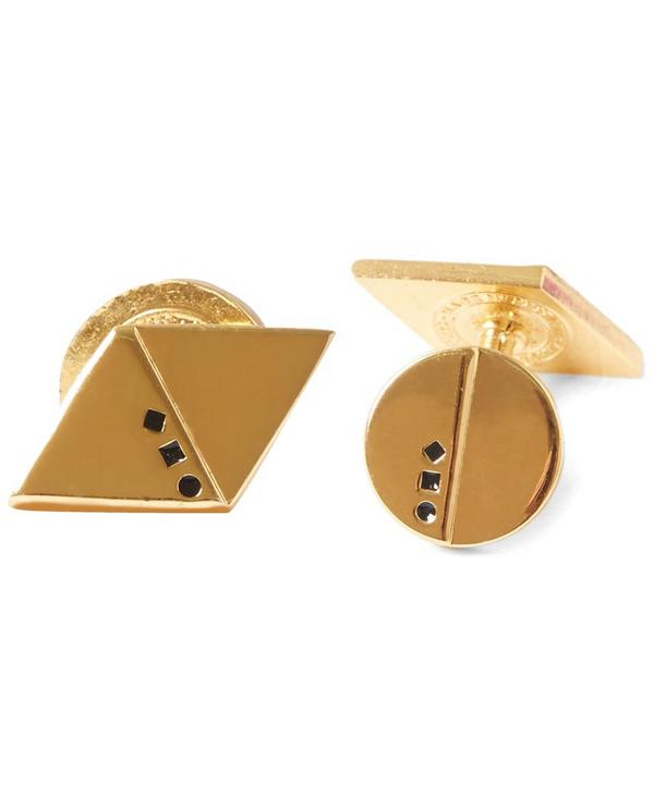 Gold-Plated Orde and Arnold Cufflinks