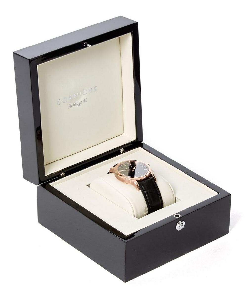 Rose Gold Heritage 40 Black Dial Watch