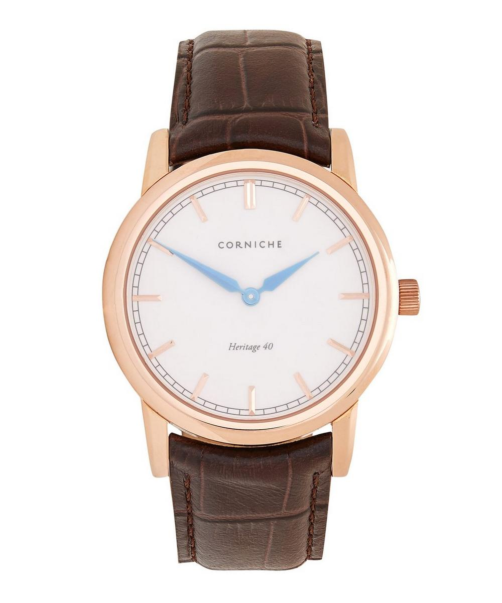 CORNICHE ROSE GOLD HERITAGE 40 CREAM DIAL WATCH