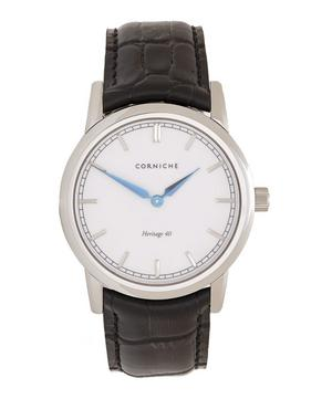 Stainless Steel Heritage 40 White Dial Watch