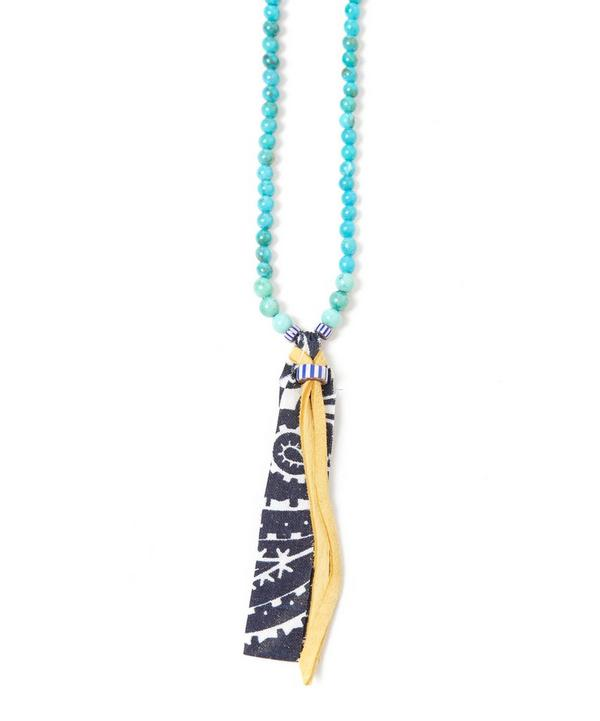 Suede Bandana Bead Necklace