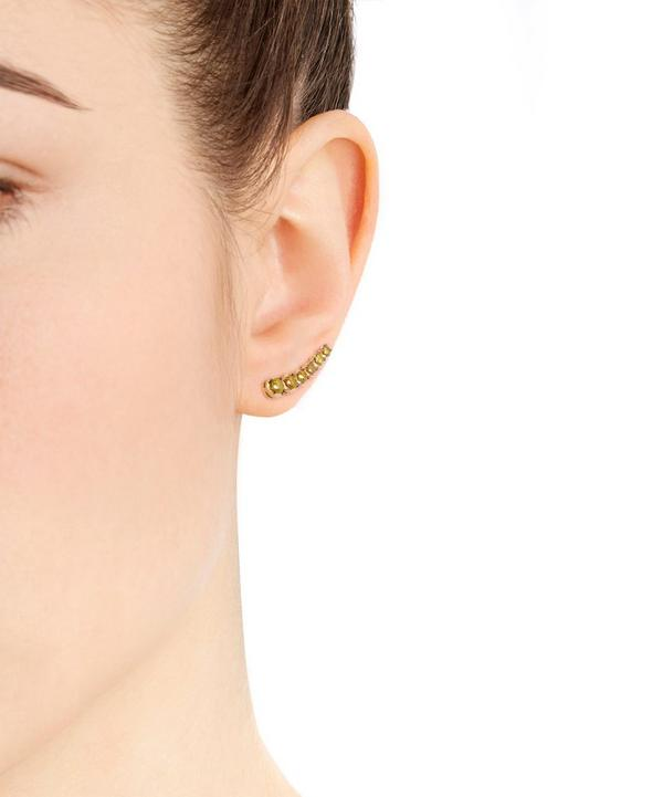 Gold Dusty Diamonds Left Ear Pin