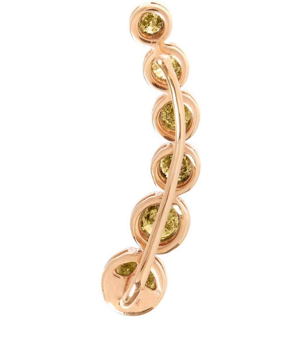 Gold Dusty Diamonds Right Ear Pin
