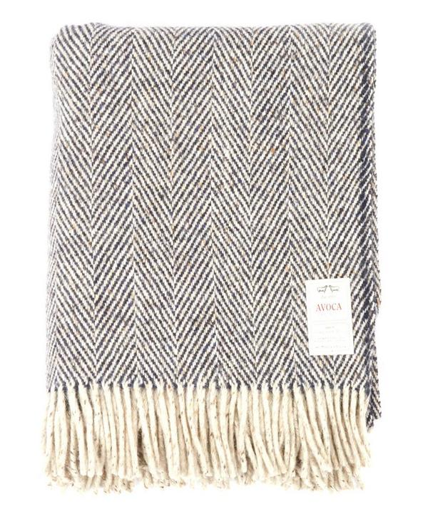 Heavy Herringbone Pure Wool Throw