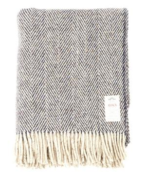 Heavy Herringbone Pure Wool Throw