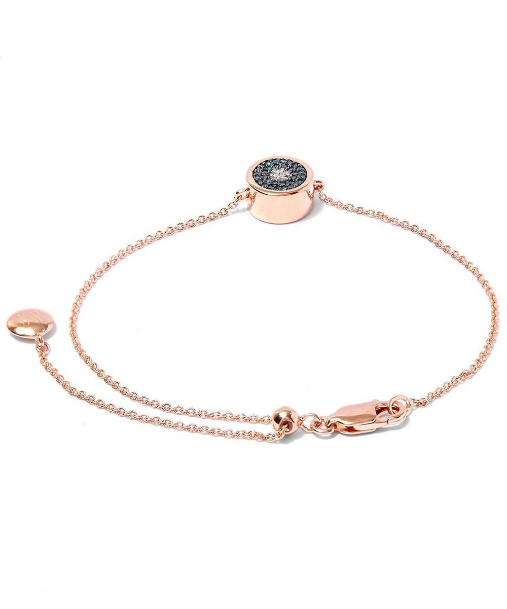 Rose Gold-Plated Evil Eye Diamond Bracelet