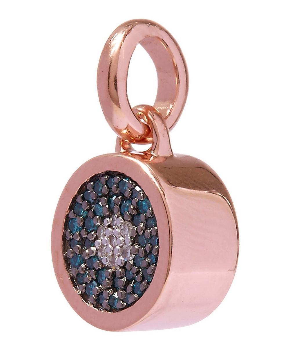 Diamond Evil Eye Rose Gold Pendant