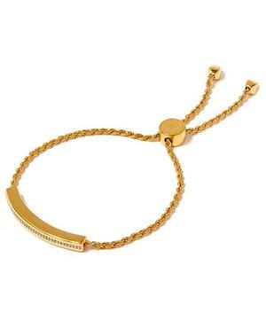 Gold-Plated Linear Chain Diamond Bracelet