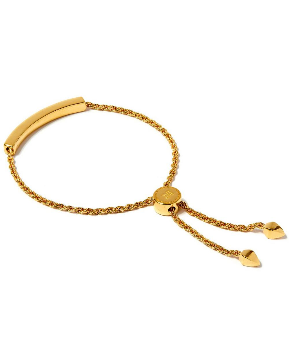 Gold-Plated Linear Chain Diamond Bracelet
