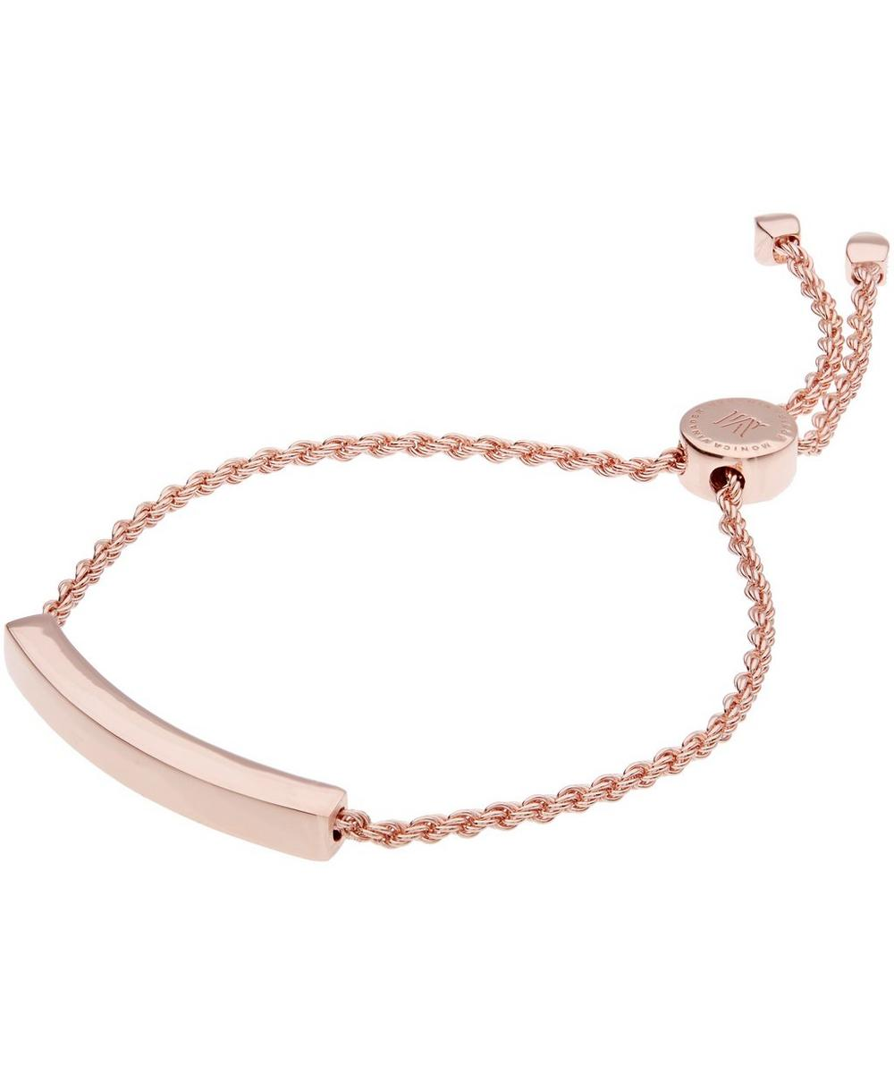 Rose Gold-Plated Linear Chain Bracelet