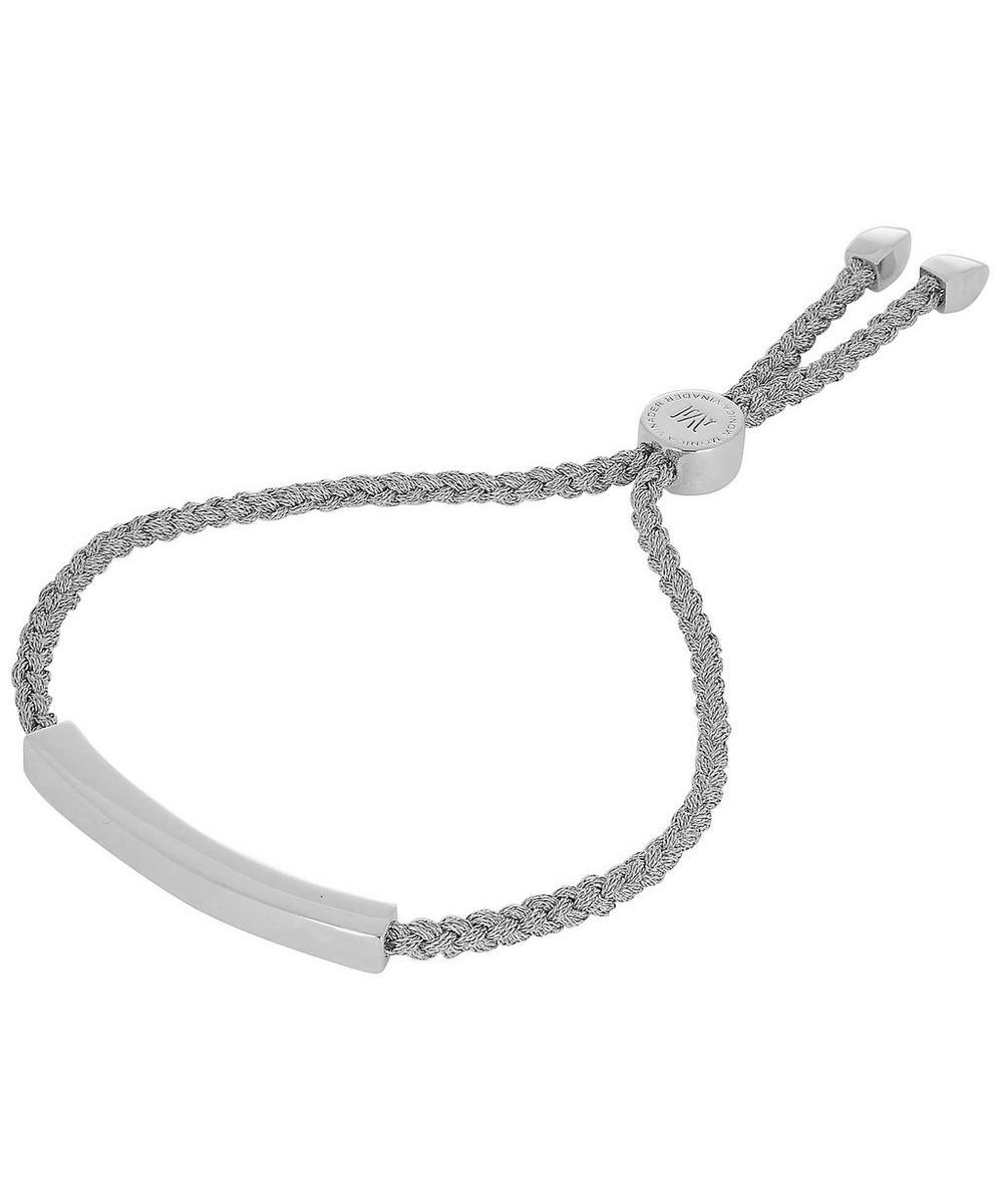 Silver Linear Silver-Tone Metallica Cord Friendship Bracelet