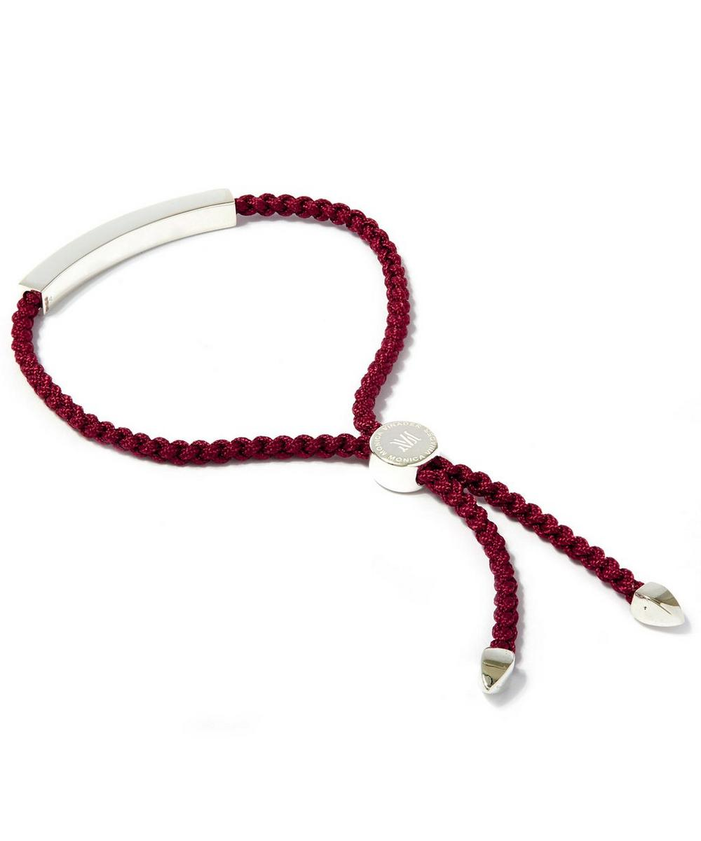 Silver Linear Friendship Wine Cord Bracelet