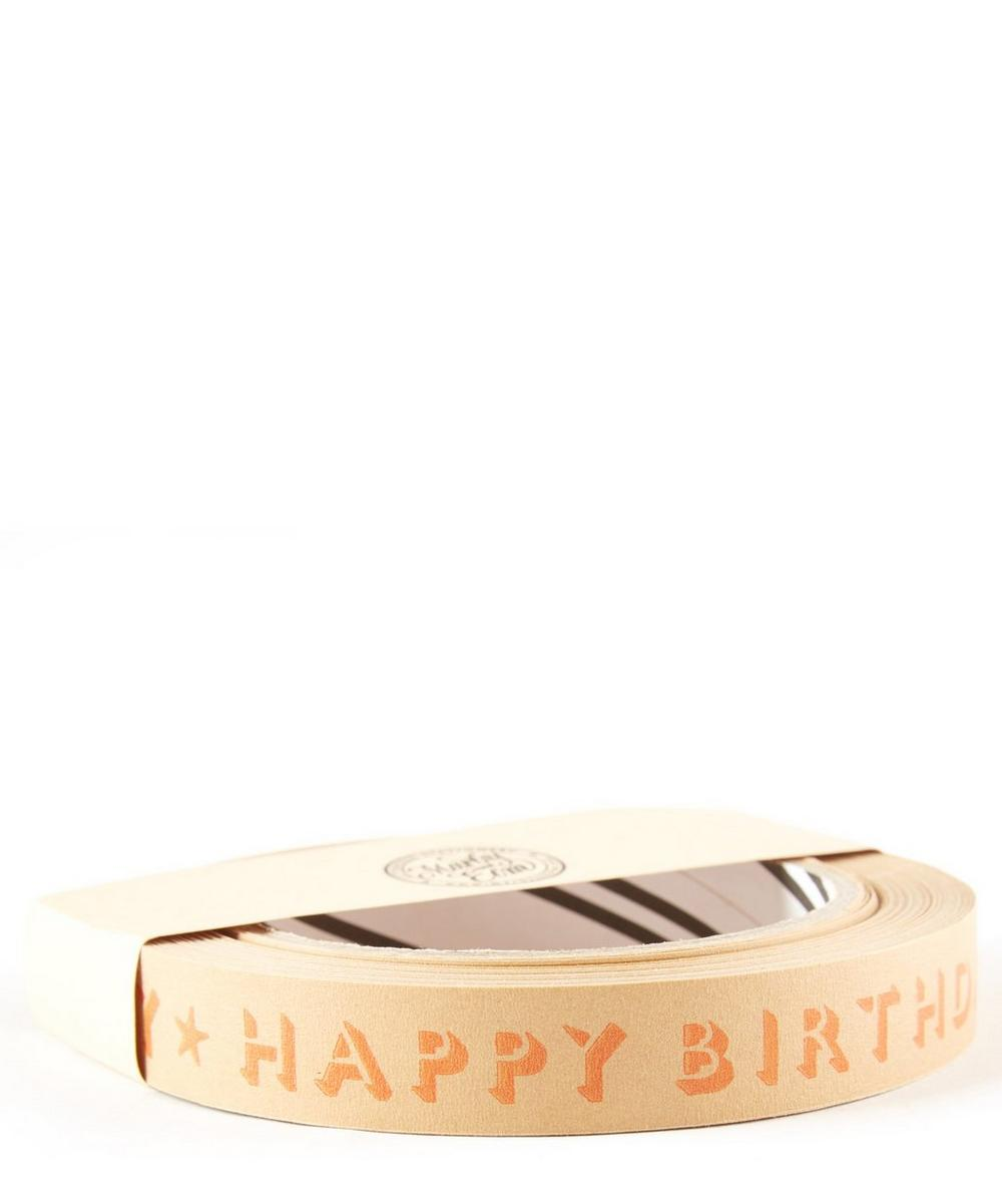 Happy Birthday Paper Tape