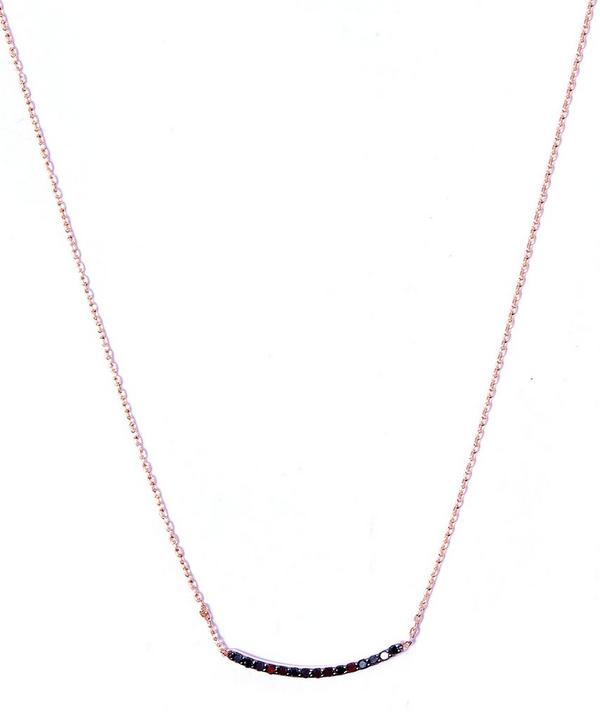 Small Gold Lumiere Black Diamond Necklace