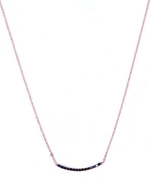Small Gold Lumiere Black Diamond Necklace