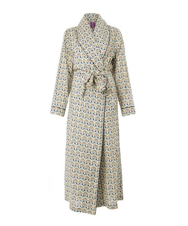 Mauverina Long Cotton Robe