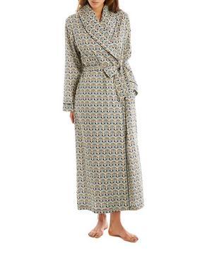 Mauverina Long Cotton Robe