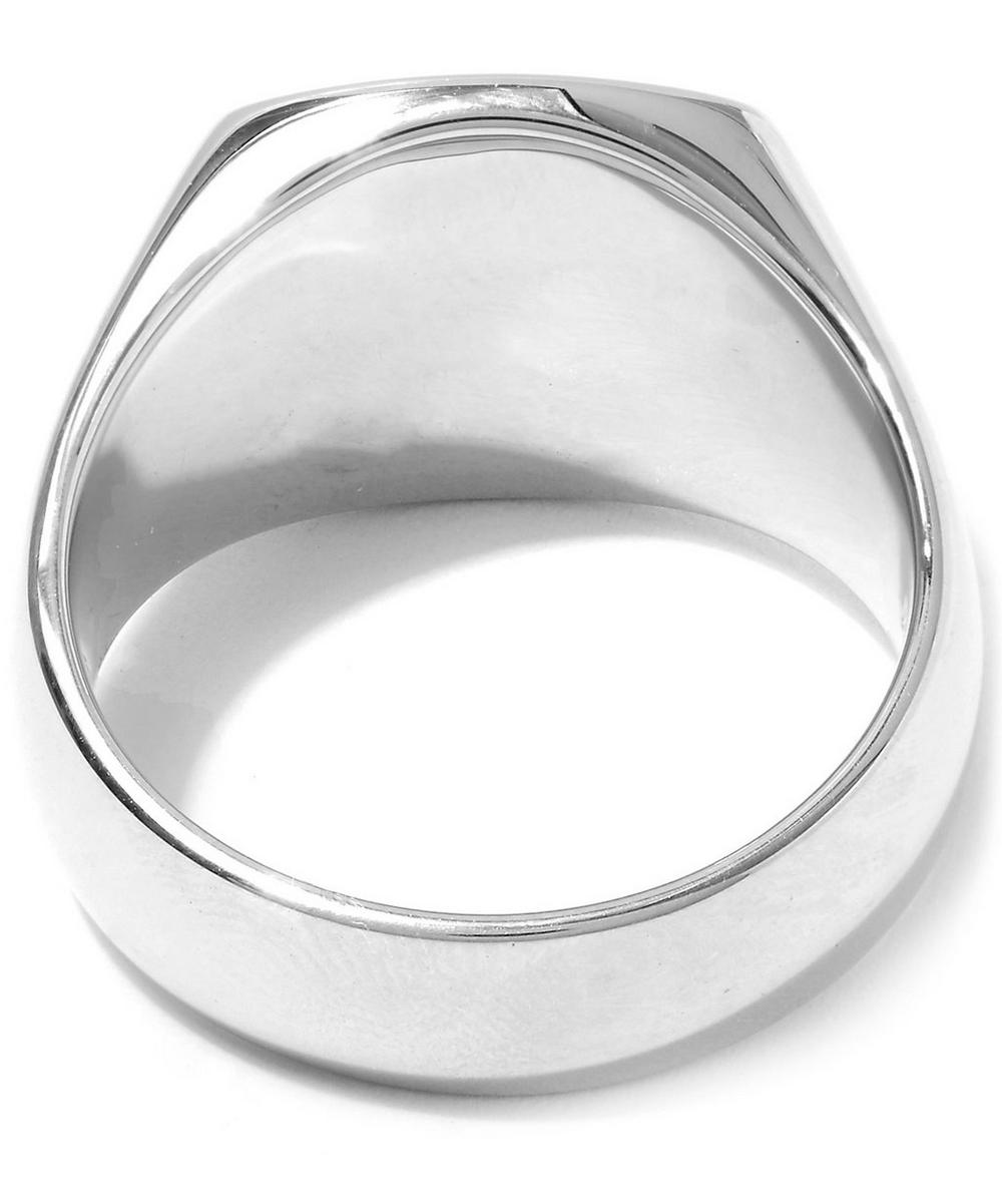 Silver Polished Cushion Ring